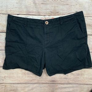 Dockers Black Flat Front Shorts